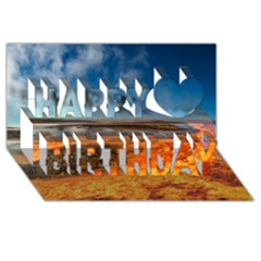 FIRE RIVER Happy Birthday 3D Greeting Card (8x4)