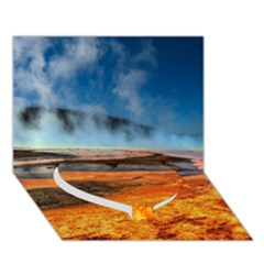 FIRE RIVER Heart Bottom 3D Greeting Card (7x5)