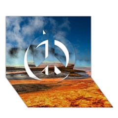Fire River Peace Sign 3d Greeting Card (7x5)