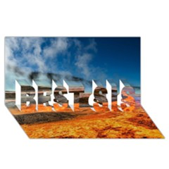 FIRE RIVER BEST SIS 3D Greeting Card (8x4)