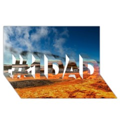 FIRE RIVER #1 DAD 3D Greeting Card (8x4)