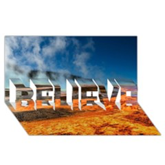 FIRE RIVER BELIEVE 3D Greeting Card (8x4)