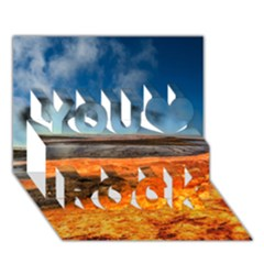 FIRE RIVER You Rock 3D Greeting Card (7x5)