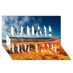 FIRE RIVER Laugh Live Love 3D Greeting Card (8x4)