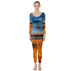 FIRE RIVER Long Sleeve Catsuit