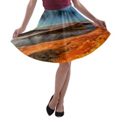 FIRE RIVER A-line Skater Skirt