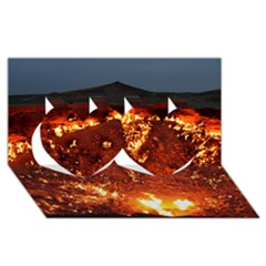 DOOR TO HELL Twin Hearts 3D Greeting Card (8x4)