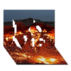 DOOR TO HELL LOVE 3D Greeting Card (7x5)