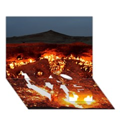 DOOR TO HELL LOVE Bottom 3D Greeting Card (7x5)