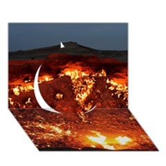 Door To Hell Circle 3d Greeting Card (7x5)