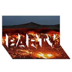 DOOR TO HELL PARTY 3D Greeting Card (8x4)