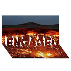 Door To Hell Engaged 3d Greeting Card (8x4)