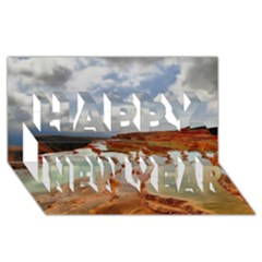 Badab E Surt Happy New Year 3d Greeting Card (8x4)