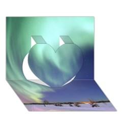AURORA BOREALIS Heart 3D Greeting Card (7x5)