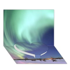 AURORA BOREALIS Heart Bottom 3D Greeting Card (7x5)
