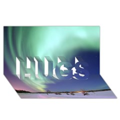 AURORA BOREALIS HUGS 3D Greeting Card (8x4)