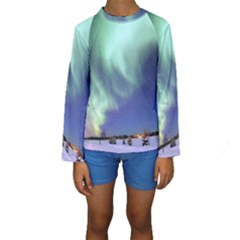 AURORA BOREALIS Kid s Long Sleeve Swimwear