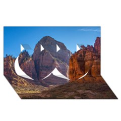 ZION NATIONAL PARK Twin Hearts 3D Greeting Card (8x4)