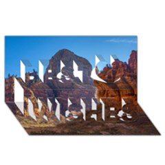 ZION NATIONAL PARK Best Wish 3D Greeting Card (8x4)