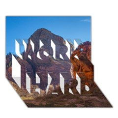 ZION NATIONAL PARK WORK HARD 3D Greeting Card (7x5)