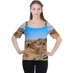 ZHANGYE DANXIA Women s Cutout Shoulder Tee
