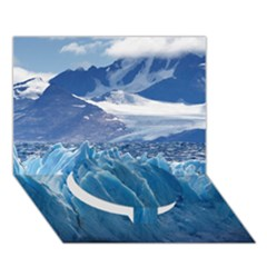 UPSALA GLACIER Circle Bottom 3D Greeting Card (7x5)