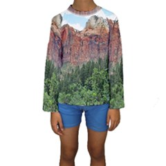 Upper Emerald Trail Kid s Long Sleeve Swimwear