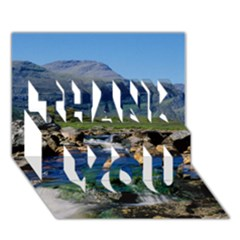 THE CLISHAM THANK YOU 3D Greeting Card (7x5)