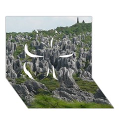 STONE FOREST 1 Clover 3D Greeting Card (7x5)