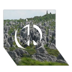 STONE FOREST 1 Peace Sign 3D Greeting Card (7x5)