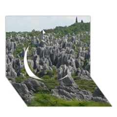 STONE FOREST 1 Circle 3D Greeting Card (7x5)