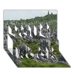 STONE FOREST 1 You Rock 3D Greeting Card (7x5)