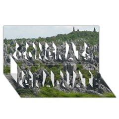 STONE FOREST 1 Congrats Graduate 3D Greeting Card (8x4)