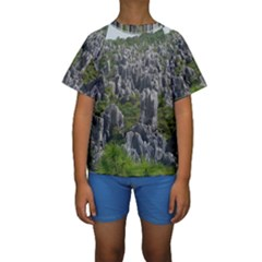 STONE FOREST 1 Kid s Short Sleeve Swimwear
