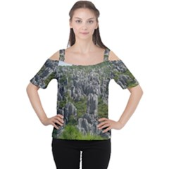 STONE FOREST 1 Women s Cutout Shoulder Tee