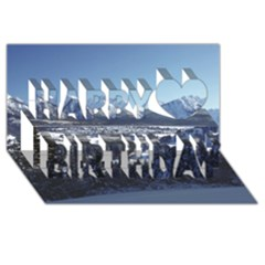 SNOWY MOUNTAINS Happy Birthday 3D Greeting Card (8x4)