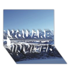SNOWY MOUNTAINS YOU ARE INVITED 3D Greeting Card (7x5)