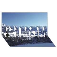 SNOWY MOUNTAINS #1 MOM 3D Greeting Cards (8x4)