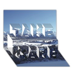 Snowy Mountains Take Care 3d Greeting Card (7x5)