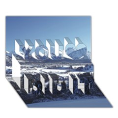 SNOWY MOUNTAINS You Did It 3D Greeting Card (7x5)