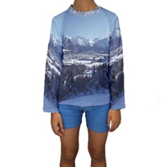 SNOWY MOUNTAINS Kid s Long Sleeve Swimwear