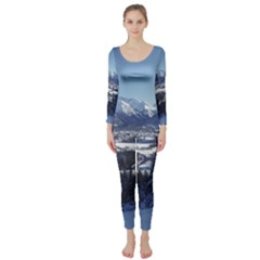 SNOWY MOUNTAINS Long Sleeve Catsuit