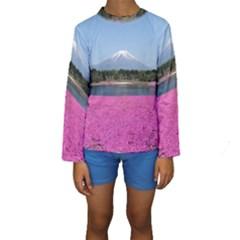 SHIBAZAKURA Kid s Long Sleeve Swimwear