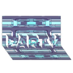 Modern Pattern Factory 01 Party 3d Greeting Card (8x4)