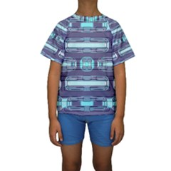 Modern Pattern Factory 01 Kid s Short Sleeve Swimwear