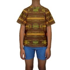 Modern Pattern Factory 01b Kid s Short Sleeve Swimwear