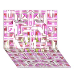 Modern Pattern Factory 01 LOVE 3D Greeting Card (7x5)