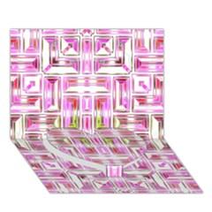 Modern Pattern Factory 01 Heart Bottom 3D Greeting Card (7x5)