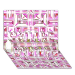 Modern Pattern Factory 01 You Are Invited 3d Greeting Card (7x5)