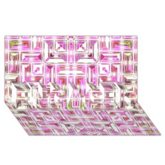 Modern Pattern Factory 01 ENGAGED 3D Greeting Card (8x4)